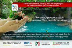 Inicia proceso para declarar Río Verde y Santiago áreas protegidas.