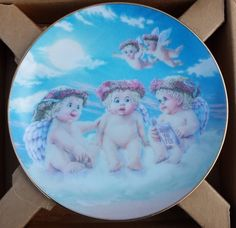 "Dreamsicles Angels Cherubs Decorative Collectible Plate ""The Flying Lesson"" NIB"