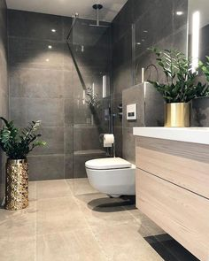 76 Amazing Modern Bathroom Design Ideas Modern bathrooms create a simplistic and clean feeling. In order to design your modern bathroom make sure to utilize geometric shapes and patterns, clean lines, minimal colours and mid-century Boho Bathroom, Bathroom Colors, Bathroom Ideas, Bathroom Organization, Minimal Bathroom, Bathroom Designs, Natural Bathroom, Bathroom Inspo, Bathroom Cleaning
