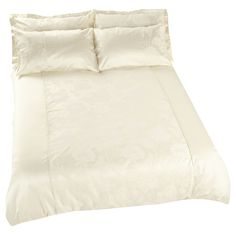 iLiv Charlton Azure Jacquard Duvet Cover Sets - Cream - Now with 50% Off from only £18