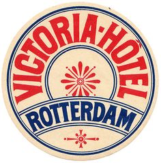Olanda - Rotterdam - Victoria Hotel by Luggage Labels