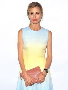 Laura Bailey. love this ombre dress