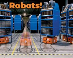 """E-commerce era welcomes """"robots"""" to fasten logistics Domestic Robots, Cnn Money, Lost Job, Cool Tech, Science And Technology, Ecommerce, Cool Stuff, Amazon, Warehouses"""