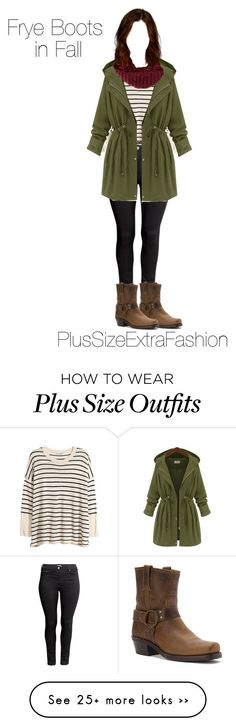 """Fall Outfit ft. Frye Boots Plus Size Outfit"" by plussizeextrafashion on Polyvore featuring H&M, Frye, TOMS, plussize, fall2015 and plussizeextrafashion"