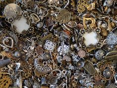 1 Lb Pound Bulk Assorted Findings Silver Gold Metal Beads Jewelry Making Parts #CharmsLinksComponentsJumpringsSpacerBeads