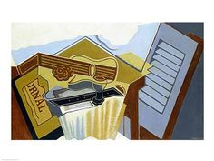 Still Life with a White Cloud, Art Print by Juan Gris