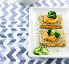 Farinata ai broccoletti con farcia di carote e tofu