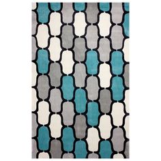 Shop nuLOOM  ACR208B Cine Teal Hand Tufted Lakia Area Rug at Lowe's Canada. Find our selection of area rugs at the lowest price guaranteed with price match + 10% off.