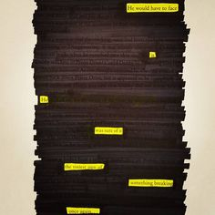 He would have to face it. He was sure of it. The tiniest sign of something breaking once again... . . . #siriusblackout #harrypotter #excerpt #orderofthepheonix #blackoutpoetry #bookworm #potterhead #librarian #poet #poetrycommunity #poetrytribe #poetryisnotdead