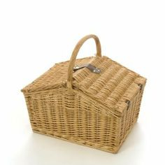 Wicker Basket Picnic Hamper Ideal To Fill For A Christmas Hamper Wicker Picnic Basket, Wicker Baskets, Christmas Hamper, Blue Check, Brand New, Cool Stuff, Food, Meals