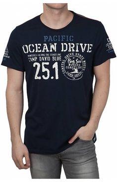 Camp David t-shirts in fashionable colors and prints Camp David Camp David ® T-Shirt Pacific Ocean Drive Denim T Shirt, Shirt Jacket, Shirt Outfit, T Shirt Art, Boys T Shirts, Casual T Shirts, Tee Shirts, Teen Jackets, Camp David