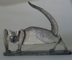 Fine Art Miniatures by Natasha, featuring shadow boxes, miniature paintings, painted sculptures, and dollhouse scale decorated period furniture. Siamese Cats, Kittens, Sculpting, Dog Cat, Sculptures, Creatures, Miniatures, Fine Art, Dogs