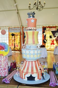 amazing carnival wedding cake by Portland Cake Designer Artisan Cake Company
