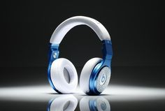 Monster Beats By Dr. Dre Pro Diamond White High Performance Blue White