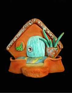 Polymer clay ~ Southwest Fairy Door by  Sandy's Creations in Clay