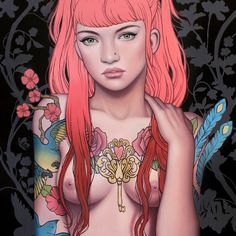 On the @thinkspace_art blog info out on the new prints that will be available at the galley tonight! Had quite a few people asking me if there'd ever be prints of 'secret heart' in the future and well... the secret is now out ;)! http://ift.tt/SGbIIL. Pleae don't mind the painted nudity... I'd rather not censor my paintings and am currently away from home without a censored image to post ;p... Initially only for sale at the gallery via in person however whatever remains after the weekend…
