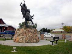 Lane Frost statue in Cheyenne, Wyoming