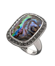 Marc Rectangular Abalone Ring