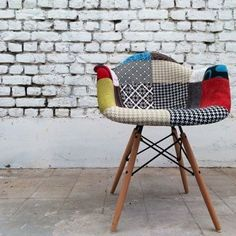 Vintage never goes out of Style!  Replica Eames Patchwork armchair.