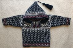 Trendy winter sweater for children with ornament and by LanaNere