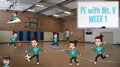 One of the main challenges of going into my new PE position is the possibility of not being able to connect with the students for weeks, pos. Physical Education Activities, Elementary Physical Education, Elementary Pe, Pe Activities, Health And Physical Education, Adapted Pe, Pe Games, Word Games, Pe Lessons
