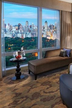 Central Park View Rooms are 420 square feet and have floor-to-ceiling views of the famous park. Mandarin Oriental, New York (New York, New York) - Jetsetter