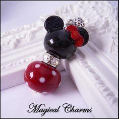 Minnie Mouse Pandora Charm, Minnie Mouse Pendant, Minnie Disney Style... ($33) ❤ liked on Polyvore