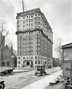 Items similar to Hotel Tuller at the edge of Grand Circus Park. Old Pictures, Old Photos, Vintage Photos, State Of Michigan, Detroit Michigan, Detroit Hotels, Visit Detroit, Ville New York, Detroit History