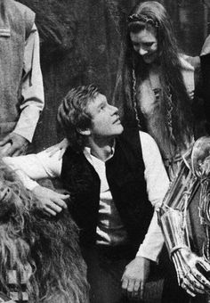 Harrison Ford and Carrie Fisher Star Wars Han Solo & Princess Leia Star Wars Cast, Star Wars Han Solo, Star Wars Brasil, Carrie Fisher Harrison Ford, Alec Guinness, Han And Leia, The Phantom Menace, Love Stars, Star Wars Episodes