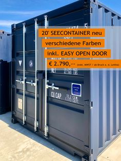 Günstiger MO.SPACE - 20' Seecontainer inkl. EASY OPEN DOOR um nur € 2.790,-- (Netto, ab Depot Bruck a.d. Leitha, gültig solange Vorrat reicht). Weitere Depots: Enns, Schwanenstadt, Wiener Neustadt und Graz. Informiere dich auch über unsere günstigen Liefermöglichkeiten, denn wir liefern dir gerne den Seecontainer auch zu dir nach Hause oder zu deiner Firmenadresse. Jetzt online bestellen: www.mospace.at oder 👉🏻 +43 664 432 58 60 Lockers, Locker Storage, Cabinet, Easy, Furniture, Home Decor, Graz, Action, Summer