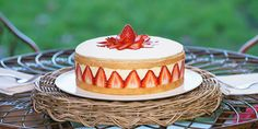 Matt Moran's fraisier cake | The Great Australian Bake Off | Lifestyle