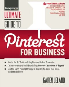 Ultimate Guide to Pinterest for Business  is now out!   The book explores among other things specific marketing applications of Pinterest to #small businesses, from architecture firms to theater companies.  Read more at http://www.karenleland.com/pinterest-book/