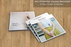 InDesign Magazine Template  Multipurpose Square by TemplateStock