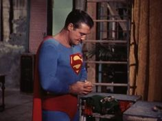 George Reeves in Adventures of Superman First Superman, Batman And Superman, Superman Stuff, Original Superman, George Reeves, Adventures Of Superman, Superman Wonder Woman, Lost In Space, Old Tv Shows