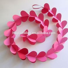 Baby Pink 3d Heart Paper Garland Handmade Paper Hearts Garland For Wedding Party Decoration , Find Complete Details about Baby Pink 3d Heart Paper Garland Handmade Paper Hearts Garland For Wedding Party Decoration,Handmade Christmas Decorative Garland,Christmas Paper Garland,Red Heart Garland from -Xiamen Hipie Trading Co., Ltd. Supplier or Manufacturer on Alibaba.com