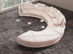 White Sectional Sofa, Ottoman Sofa, Leather Sectional Sofas, Modern Sectional, Leather Sofa, White Leather, Real Leather, Modern Sofa, Couches