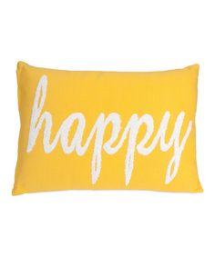 Look at this #zulilyfind! 'Happy' Throw Pillow by IMAX #zulilyfinds