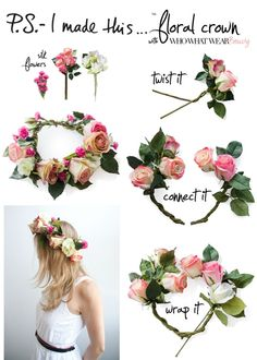 make your own floral crown.