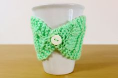 Items similar to Hand Knit Ribbed Mug Cup Tea Cozy on Etsy Mug Cozy, Hand Knitting, Crochet Necklace, Etsy Shop, Colours, Mugs, Trending Outfits, Unique Jewelry, Handmade Gifts