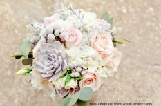 melinda's flowers - close up of flowers in bridal bouquet