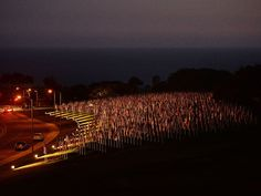 Three thousand American flags decorate a hill in Malibu, Calif., on Sept. 9.