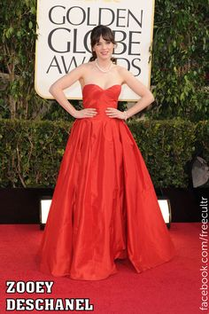 Zooey Deschanel at the 70th Annual Golden Globe Awards 2013