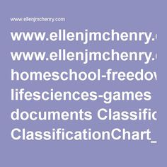 www.ellenjmchenry.com homeschool-freedownloads lifesciences-games documents ClassificationChart_000.pdf