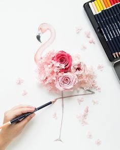 Do on fabric with fabric flowers for back drop with Lets Flamingle on it