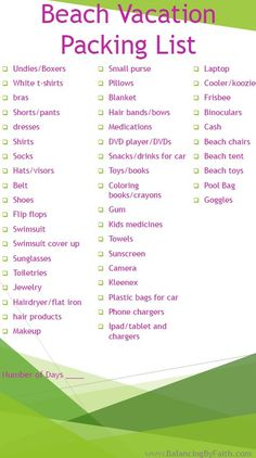 Beach Vacation Packing List Beach Vacation Packing List, Florida Vacation, Florida Travel, Vacation Ideas, Beach Vacations, Family Vacations, Alabama Vacation, Vacation Checklist, Destin Florida