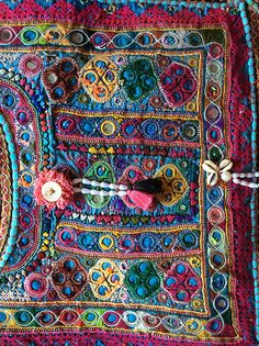 Beautiful recycled Indian embroidery bag by Isobel Moore