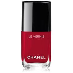 Chanel Beauty Le Vernis Longwear Nail Colour/0.4 Oz. (120 MYR) ❤ liked on Polyvore featuring beauty products, nail care, nail polish, beauty, makeup, nails, red, chanel nail color, chanel nail polish and chanel nail lacquer