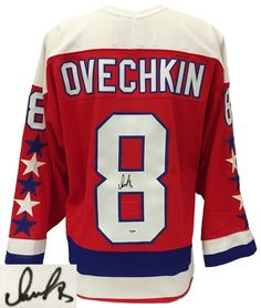 95ab12465 ALEXANDER OVECHKIN SIGNED WASHINGTON CAPITALS RED CCM THROWBACK JERSEY PSA  Alexander Ovechkin