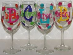 LARGE Personalized Wine Glass by happythoughtsgifts on Etsy