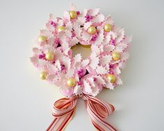 Pretty Pink Cupcake Wreath